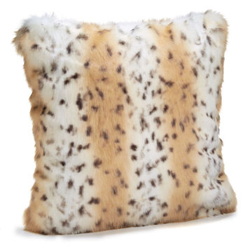 Snow Leopard Faux Fur Pillows by Fabulous Furs