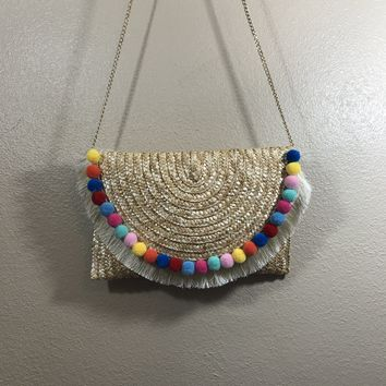 Sienna Straw Purse