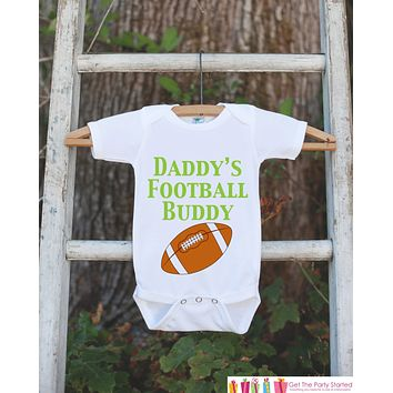 Baby Boy Football Outfit - Novelty Football Bodysuit - Football Baby Shower Gift For Boys - Football Onepiece - Daddy's Football Buddy Shirt