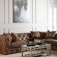 Brewster Leather Sectional