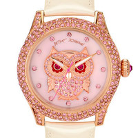 Betsey Johnson 'Bling Bling Time' Owl Dial Watch | Nordstrom
