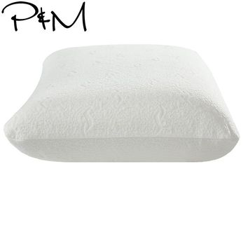Papa&Mima Single Solid color Latex Pillow Knitted cotton  pillow 60*40*10cm Beige
