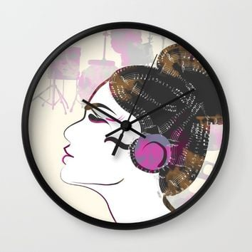 Music Overdose Wall Clock by Famenxt | Society6