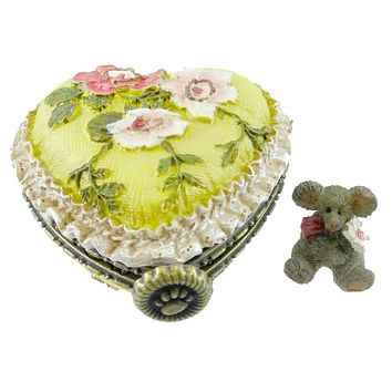 Boyds Bears Resin Momma's Pretty Lil' Pillow Treasure Box