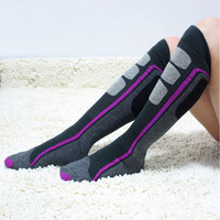 Germany Crivit Brand Winter Snowboard Socks Men Warming knee high Wool Sox Hit Color Long Socks For Men And Women