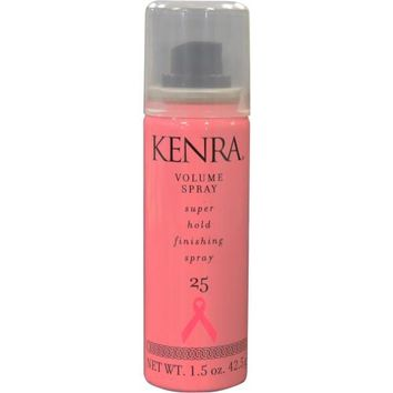Kenra By Kenra Volume Spray Number 25 Aerosol Super Hold Finishing Spray 1.5 Oz (Packaging May Vary)