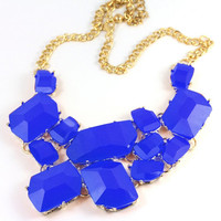 Royal Blue Chunky Statement Necklace from Her Vanity Affair