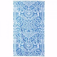 Sandesa Peacock Blue Beach Towel by John Robshaw