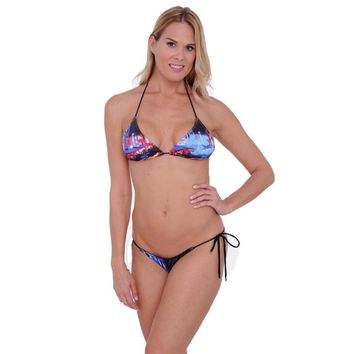 Women's Juniors South Beach Miami Bikini Swimwear Multicolor