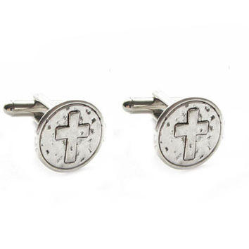 Hammer Cross Cufflinks, Religious Christian Catholic Gift