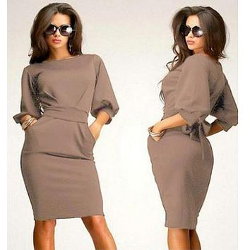 IT'S ALL BUSINESS SHEATH DRESS