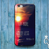 Pray More Cute Bible Verse Phone Case Sunset Cover iPod iPhone 4 4s 5 5s 5c 6 +