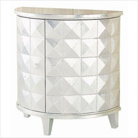 Wayborn Modern Silver Reflective Console | Bedding and More