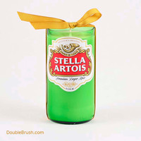 Stella Artois Candle Upcycled Bottle Shipping Included US