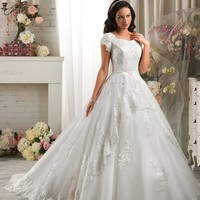 Bonny Bliss 2419 Lace and Tulle Wedding Dress