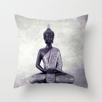 Buddha © Throw Pillow by JUSTART