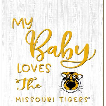 Missouri Tigers | My Baby Loves | Sign | Wood | Rope Hanger | NCAA