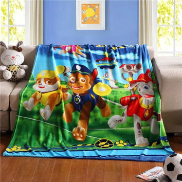 Star wars Paw Patrol Jurassic ninja turtle Despicable Me Batman 100*140CM kids anime /Children Cartoon Coral fleece blanket