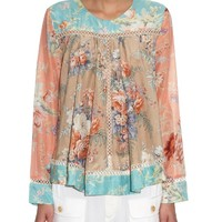 Anais floral-print cotton-blend top | Zimmermann | MATCHESFASHION.COM US