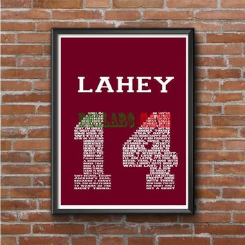 TEEN WOLF LAHEY 1FOUR LACROSSE JERSEY Photo Poster 16x20 18x24