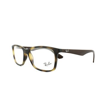 Ray-Ban Glasses Frames 7047 5573 Matt Havana Mens 54mm