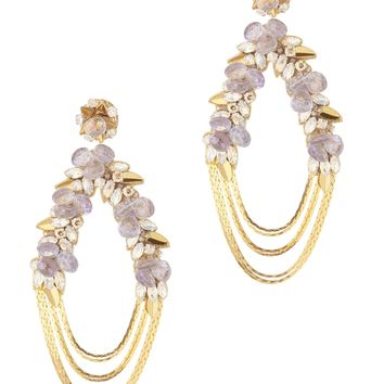Penelope Floral Chain Earrings
