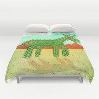 Cactus Unicorn Duvet Cover by That's So Unicorny