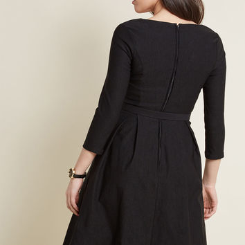 Sartorial Secret Fit and Flare Dress in Black
