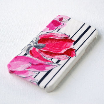 Striped Floral iPhone Case, iPhone 4 Case, iPhone 4s Case