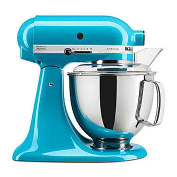 KitchenAid KSM150PSCL Artisan Series 5 Quart Stand Mixer, Crystal Blue
