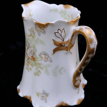 Limoges France Creamer,  Schleiger 52h Haviland Porcelain, Antique French, Shabby Chic,