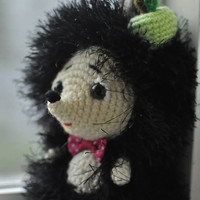 Crochet Hedgehog. Crochet toy. FREE SHIPPING