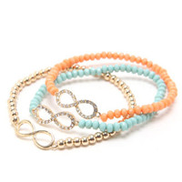 With Love From CA 3 Pack Pave Infinity Bracelets at PacSun.com