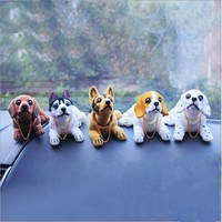 Car Toy Animal Ornaments Decoration Auto Simulation Shaking Head Doll Dog Adornment Products Automobiles Interior Accessories