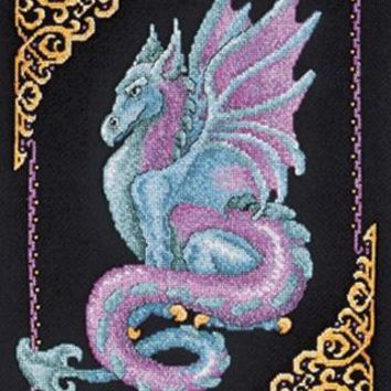 "11""X15"" 14 Count Mythical Dragon Picture Counted Cross Stitch Kit"