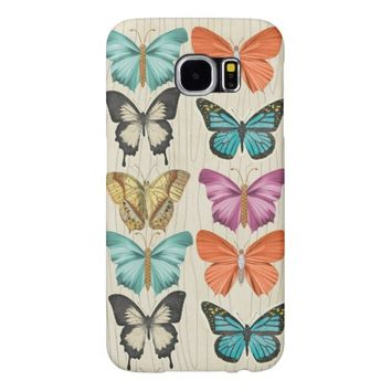 wood Butterfly Customizable Samsung Galaxy S6 Cases