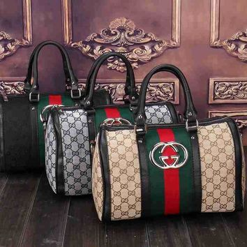 Gucci Women Leather Luggage Travel Bags Tote Handbag-4