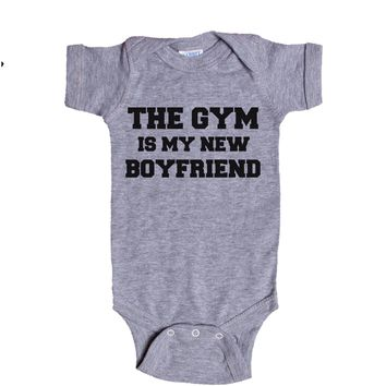 The Gym Is My New Boyfriend Baby Onesuit