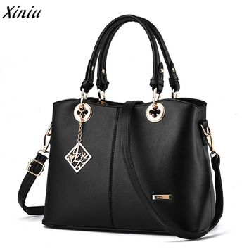 Xiniu luxury Women Handbag Shoulder Bags Leather crossbody Messenger Hobo Bag Satchel big capacity Casual Tote bolsa feminina