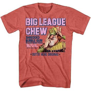 Big League Chew Vintage Pitcher Label Adult Heathered T-Shirt