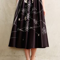 Sundial Skirt by Anthropologie Black Motif