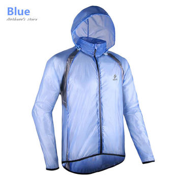 2016 Men Ultra-Thin Running Raincoat Sports Windproof Jersey Outdoors Waterproof Jacket Jogging Reflective Hoodies Sweatshirts