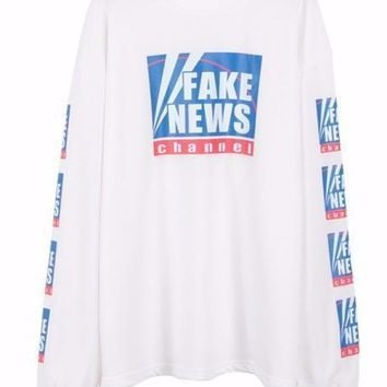 Fake News Pullover Sweatshirt