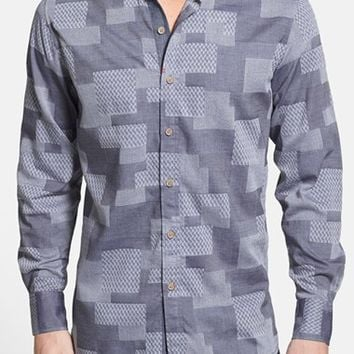 Men's Big & Tall Robert Graham 'Sutherland Falls' Tailored Fit Patchwork Sport Shirt,