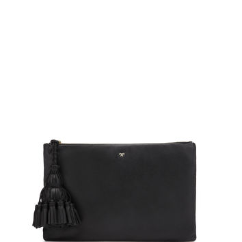 Georgiana Clutch Bag, Black - Anya Hindmarch
