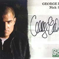 "CSI: Crime Scene Investigation Series 3 - George Eads ""Nick Stokes"" Autograph Card A4"