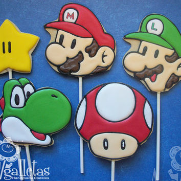 Super Mario Bros Cookies  - 1 dozen