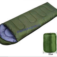 Green Outdoor Camping Hiking Single sleeping bags blanket tents Lightweight Compression Stuff Sack Waterproof free shipping