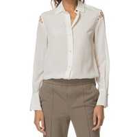 Rag & Bone Hana Ivory Long Sleeve Blouse