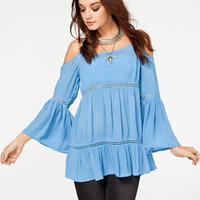 PATRONS OF PEACE Womens Cold Shoulder Top 251873200 | Blouses & Shirts
